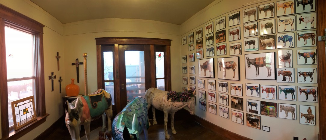 Burro room at Malkerson Gallery