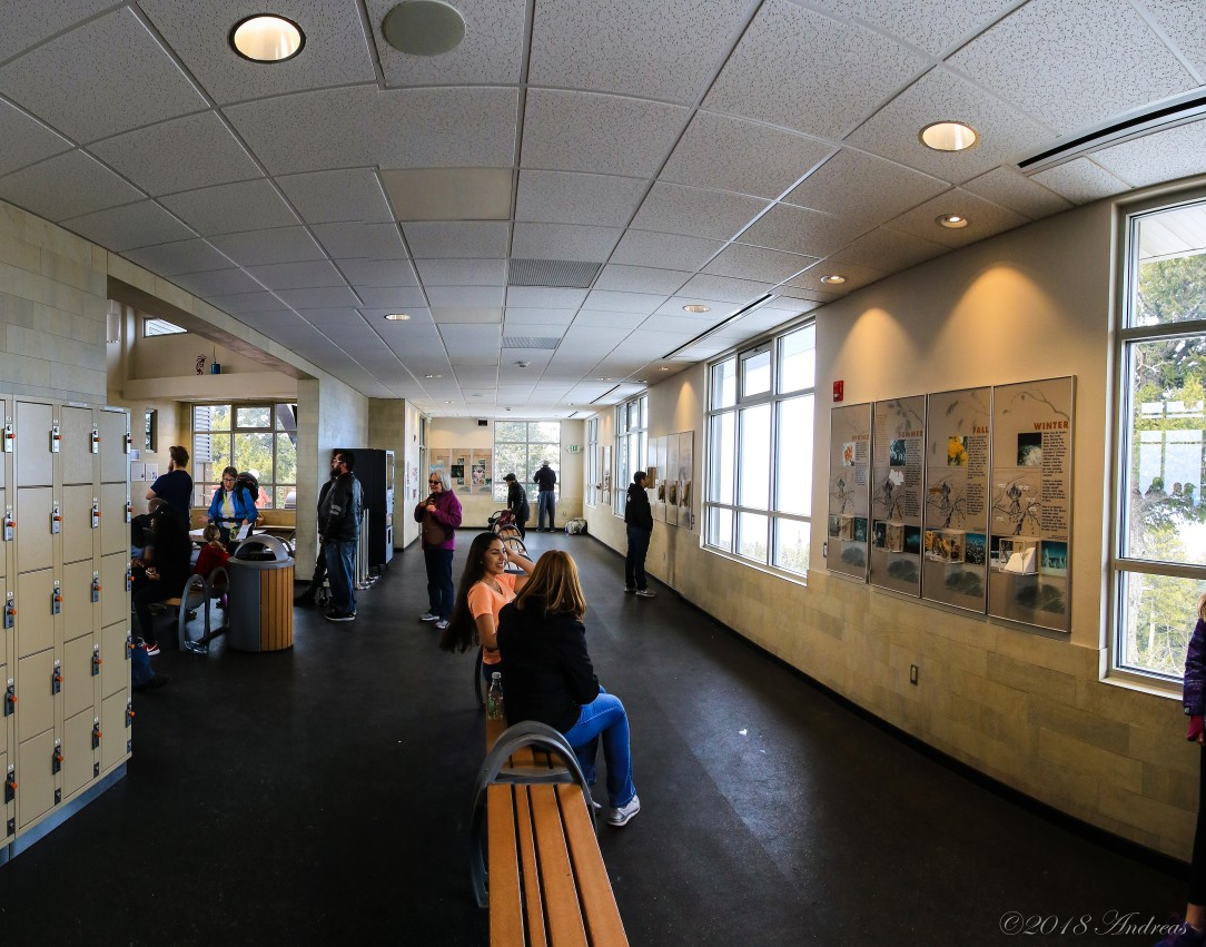 Waiting area and lockers top of Sandia